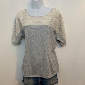 Gray lace top by J. Crew is like new. Size xlarge